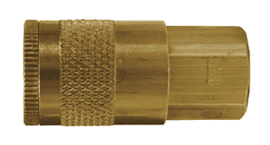 "DC221 Dixon Brass Air Chief Automotive Interchange Quick-Connect Coupler (Semi-Automatic Pull Sleeve to Connect) - Female Pipe Thread - 1/4"" Body Size x 1/8"" Female NPT"