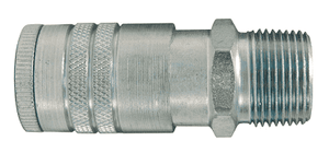 "DC2504 Dixon Air Chief Steel Semi-Automatic Pull Sleeve Quick-Connect Coupler - Male Pipe Thread - 3/8"" Body Size x 1/2"" Male NPT"