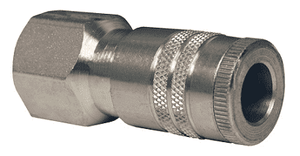 "DC2624 Dixon Air Chief Steel Semi-Automatic Pull Sleeve Quick-Connect Coupler - Female Pipe Thread - 3/8"" Body Size x 1/2"" Female NPT"