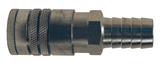 "DC2645 Dixon Air Chief Steel Semi-Automatic Pull Sleeve Quick-Connect Coupler - Standard Hose Barb - 3/8"" Body Size x 1/2"" Hose ID"
