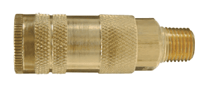"DC27 Dixon Brass Air Chief Lincoln Interchange Series Quick-Connect Coupler (Semi-Automatic - Pull Sleeve to Connect) - Male Pipe Thread - 1/4"" Body Size x 1/4"" Male NPT (Pack of 10)"