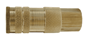 "DC28 Dixon Brass Air Chief Lincoln Interchange Series Quick-Connect Coupler (Semi-Automatic - Pull Sleeve to Connect) - Female Pipe Thread - 1/4"" Body Size x 1/4"" Female NPT (Pack of 10)"
