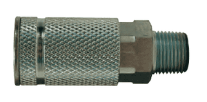 "DC35 Dixon Steel Air Chief ARO Speed Quick-Connect Coupler (Semi-Automatic Pull Sleeve to Connect) - Male Pipe Thread - 3/8"" Body Size x 3/8"" Male NPT"