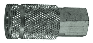 "DC36 Dixon Steel Air Chief ARO Speed Quick-Connect Coupler (Semi-Automatic Pull Sleeve to Connect) - Female Pipe Thread - 3/8"" Body Size x 3/8"" Female NPT"
