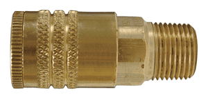 "DC3703 Dixon Brass Air Chief ARO Speed Quick-Connect Coupler (Semi-Automatic Pull Sleeve to Connect) - Male Pipe Thread - 1/4"" Body Size x 3/8"" Male NPT"