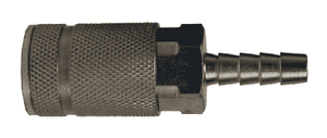 "DC3842 Dixon Steel Air Chief ARO Speed Quick-Connect Coupler (Semi-Automatic Pull Sleeve to Connect) - Standard Hose Barb - 1/4"" Body Size x 1/4"" Hose ID"