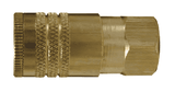"DC3823 Dixon Brass Air Chief ARO Speed Quick-Connect Coupler (Semi-Automatic Pull Sleeve to Connect) - Female Pipe Thread - 1/4"" Body Size x 3/8"" Female NPT"