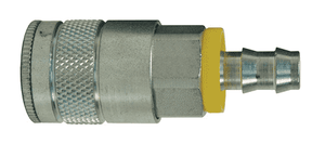 "DC644L Dixon Steel Air Chief Automotive Interchange Quick-Connect Coupler (Semi-Automatic Pull Sleeve to Connect) - Push-On Hose Barb - 3/8"" Body Size x 3/8"" Hose ID"
