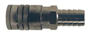 "DC645 Dixon Steel Air Chief Automotive Interchange Quick-Connect Coupler (Semi-Automatic Pull Sleeve to Connect) - Standard Hose Barb - 3/8"" Body Size x 1/2"" Hose ID"