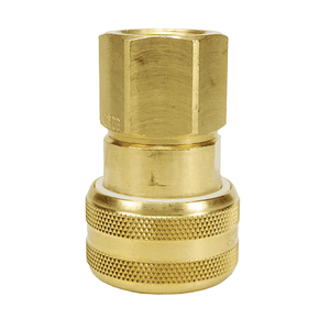 "DC7024 Dixon Valve Air Chief Brass Automatic Push to Connect Quick-Connect Coupler - Female Pipe Thread - 3/4"" Body Size x 1/2"" Female NPT"