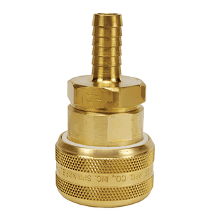 "DC7045 Dixon Air Chief Brass Automatic Push to Connect Quick-Connect Coupler - Standard Hose Barb - 3/4"" Body Size x 1/2"" Hose ID"