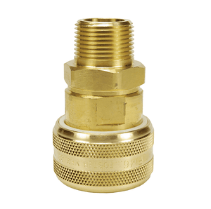 "DC7104 Dixon Valve Air Chief Brass Automatic Push to Connect Quick-Connect Coupler - Male Pipe Thread - 3/4"" Body Size x 1/2"" Male NPT"