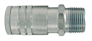 "DC504 Dixon Steel Air Chief Automotive Interchange Quick-Connect Coupler (Semi-Automatic Pull Sleeve to Connect) - Male Pipe Thread - 3/8"" Body Size x 1/2"" Male NPT"