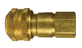 "DCB2023 Dixon Air Chief Brass Automatic Push to Connect Quick-Connect Coupler - Female Pipe Thread - 1/4"" Body Size x 3/8"" Female NPT"