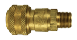 "DCB2502 Dixon Air Chief Brass Automatic Push to Connect Quick-Connect Coupler - Male Pipe Thread - 3/8"" Body Size x 1/4"" Male NPT"