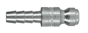 "DCP142 Dixon Steel Air Chief Automotive Interchange Quick-Connect Plug - Standard Hose Barb - 1/4"" Body Size x 1/4"" Hose ID"