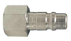"DCP20 Dixon Air Chief Steel Industrial Interchange Quick-Connect Plug - Female Pipe Thread - 1/4"" Body Size x 1/4"" Female NPT"