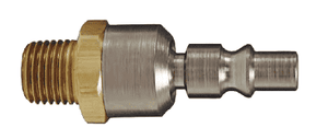 "DCP37SWIV Dixon Brass 1/4"" Ball Swivel Plug - Male NPT Ball Swivel x ARO Plug"