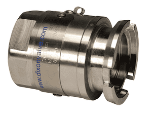 "DDA075SS Dixon 56mm 316 Stainless Steel Dry Disconnect Tank Unit Adapter x 3/4"" Female NPT with Viton Seals"