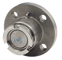 "DDA075SSFL Dixon 56mm 316 Stainless Steel Dry Disconnect Tank Unit Adapter x 3/4"" 150# ASA Flange with Viton Seals"