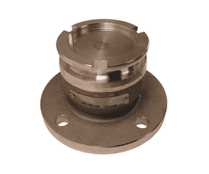 "DDA100ALFL Dixon 56mm Aluminum Dry Disconnect Tank Unit Adapter x 1"" 150# ASA Flange with Viton Seals"
