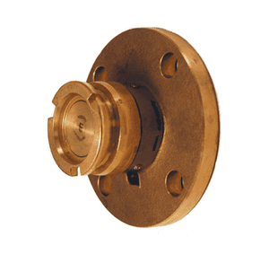 "DDA100BRFL Dixon 56mm Brass Dry Disconnect Tank Unit Adapter x 1"" 150# ASA Flange with Viton Seals"