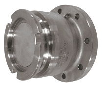 "DDA400AL164TTMA Dixon 164mm Aluminum Dry Disconnect Tank Unit Adapter x 4"" TTMA Flange with Viton Seals"