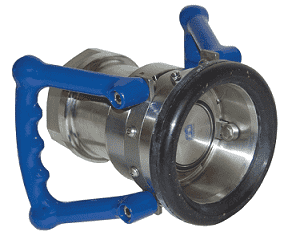 "DDC300AL105 Dixon Aluminum 105mm Dry Disconnect Hose Unit Coupler x 3"" Female NPT with Viton Seals"