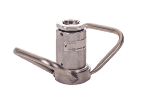 "DDSC100SS Dixon Stainless Steel Dry Disconnect Coupler for Steam Service - 1"" Female NPT - 56mm Body Size"