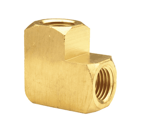"EL3F3F Dixon Brass 90 Deg. Female Pipe Elbow - Extruded - 3/8"" Female NPTF"