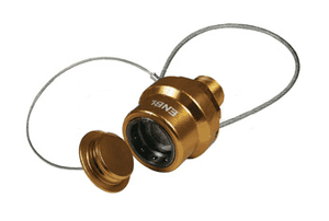 "ENBL-P2 Dixon 3/4"" NPT Anodized Aluminum Flomax High Flow 3/4"" Series Nozzle with Plug - Gold"