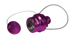 "ENBL-P4 Dixon 3/4"" NPT Anodized Aluminum Flomax High Flow 3/4"" Series Nozzle with Plug - Violet"