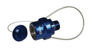 "ENBL-P5 Dixon 3/4"" NPT Anodized Aluminum Flomax High Flow 3/4"" Series Nozzle with Plug - Navy"