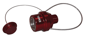 "ENBL-P Dixon 3/4"" NPT Anodized Aluminum Flomax Standard and 3/4"" Series Connector - Engine Oil Nozzle Ball Lock with Plug"