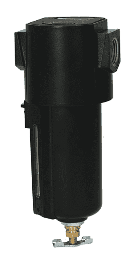 "F16-04MMB Dixon Wilkerson 1/2"" Airline Compact Filter with Metal Bowl - Manual Drain - 80.4 SCFM"