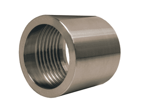 "F24G-2156 Dixon 1-1/2"" 304 Stainless Steel Sanitary Crimp Ferrule - Hose OD from 2-6/64"" to 2-9/64"""