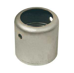"F160-1 Dixon 10"" Plated Carbon Steel Style F Standard External Swage Ferrule - Hose OD from 11-32/64"" to 11-44/64"""