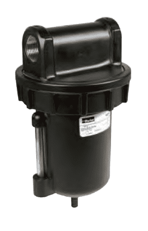 "F602-06WJR Dixon Watts Filter - 3/4"" Standard Zinc Bowl with Sight Glass and Automatic Drain - 250 SCFM"