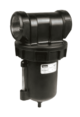 "F602-12WJ Dixon Watts Filter - 1-1/2"" Standard Zinc Bowl with Sight Glass and Manual Drain - 380 SCFM"