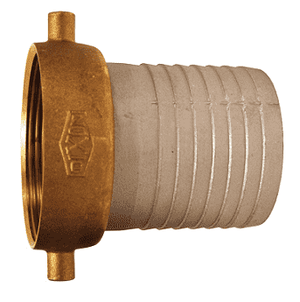 "FAB150 Dixon 1-1/2"" King Short Shank Suction Female Coupling with NPSM Thread (Aluminum Shank with Brass Nut)"