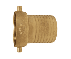 "FBB150 Dixon 1-1/2"" King Short Shank Suction Female Coupling with NPSM Thread (Brass Shank with Brass Nut)"