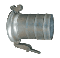 "FC21210 Dixon 10"" Type A (Agri-Lock) Quick Connect Fitting - Female with Hose Shank with Gasket - Galvanized Steel"