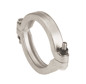 "FC220B Banjo 316 Stainless Steel 2"" Full Port Bolted Flange Clamp - Torque: 150 in/lbs"