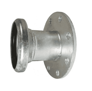 "FC3148 Dixon 8"" Type B (Bauer Style) Quick Connect Fitting - Female with 150 ASA Flange with Gasket - Galvanized Steel"