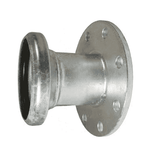 "FC31410 Dixon 10"" Type B (Bauer Style) Quick Connect Fitting - Female with 150 ASA Flange with Gasket - Galvanized Steel"