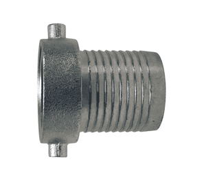 "FCSM250 Dixon 2-1/2"" Steel King Short Shank Suction Female Coupling with NPSM Thread (Plated Steel Shank with Plated Iron Nut)"