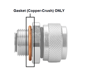 FD14-1206-04 Quick Disconnect Copper-Crush Gasket