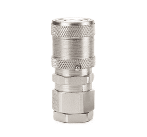 FD49-1001-08-06 Eaton FD49 Series Female Socket - 1/2-14 Female NPT, Valved Quick Disconnect Coupling - Steel