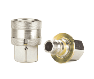 FD69-1010-080808 Eaton FD69 Series Complete Coupling - 1/2-14 x 1/2-14 Female NPT - Buna-N - Water Blast Quick Disconnect Coupling - Stainless Steel