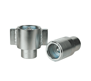 FD85-1000-24-24 Eaton FD85 Series Complete Thread to Connect 1 1/2 11-1/2 NPTF Quick Disconnect Coupling - Steel